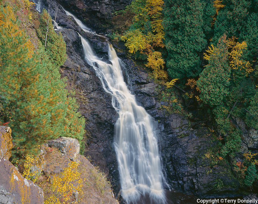 Pattison State Park, WI<br /> Big Manitou Falls (165 ft) in early fall