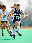 9 April 2008: University of New Hampshire Wildcats' Attackman Debra Dale, a Freshman from East Northport, NY, in action against the University of Vermont Catamounts at Moulton Winder Field, in Burlington, Vermont. The Catamounts rallied to defeat the visiting Wildcats 9-8 in America East divisional play...Mandatory Photo Credit: Ed Wolfstein Photo