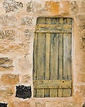 Umm Qais, northwestern Jordan:  A storeroom is tightly shuttered at the reconstructed museum buildings at the biblical town of Gadara.  © Rick Collier