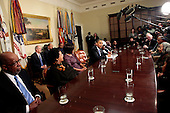 United States President Barack Obama hosts a conversation with a small group of African American seniors and their grandchildren on the legacy of the civil rights movement in the Roosevelt Room of the  White House, Monday, Washington, DC, January 18, 2010..Credit: Aude Guerrucci / Pool via CNP