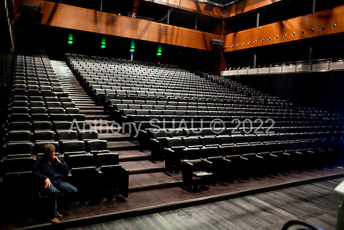 Moscow, Russia<br /> September 20, 2009<br /> <br /> The interior of the  Barviha Luxury Village theater, a new structure by Russian Architect Yuri Grigoryan.