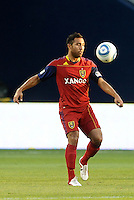 Real Salt Lake midfielder Arturo Alvarez in action... Sporting Kansas City defeated Real Salt Lake 2-0 at LIVESTRONG Sporting Park, Kansas City, Kansas.