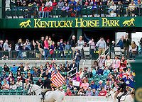 Scenes from before Stadium Jumping at the Rolex 3-Day Event at the Kentucky Horse Park in Lexington, Kentucky on April 28, 2013.