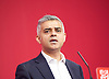 Labour Leadership <br /> Conference <br /> at The QE Conference Centre, Westminster, London, Great Britain <br /> 12th September 2015 <br /> <br /> <br /> Sadiq Khan <br /> Labour's mayor of London candidate <br /> <br /> <br /> Photograph by Elliott Franks <br /> Image licensed to Elliott Franks Photography Services