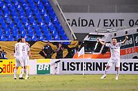 RIO DE JANEIRO, RJ, 25 DE AGOSTO 2012 - CAMPEONATO BRASILEIRO - VASCO X FLUMINENSE - Jogadores do Fluminense comemoram o segundo gol de Thiago Neves, durante partida contra o Vasco, pela 19a rodada do Campeonato Brasileiro, no Stadium Rio (Engenhao), na cidade do Rio de Janeiro, neste sabado, 25. FOTO BRUNO TURANO  BRAZIL PHOTO PRESS