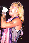 Vince Neil of Motley Crue at Madison Square Garden Aug 1985.