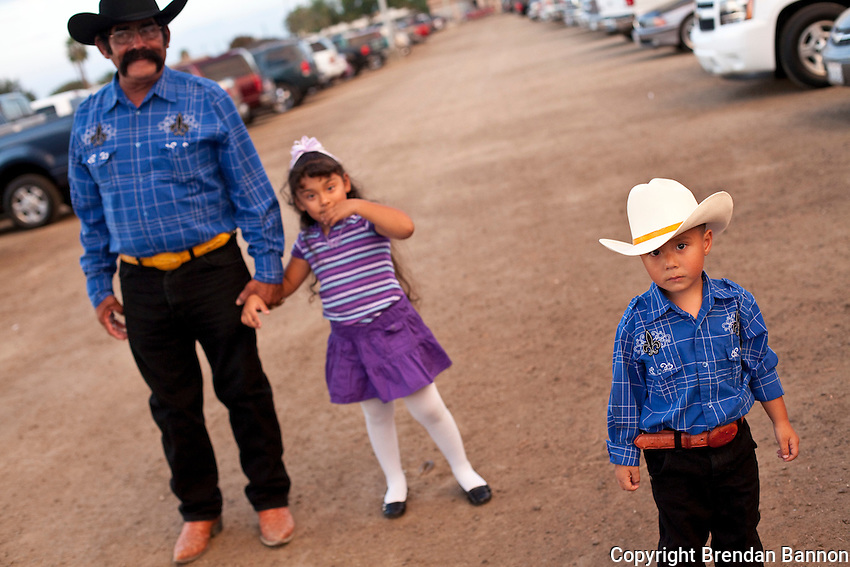 Adolfo Garcia and his grandchildren at the Kern County Fair.
