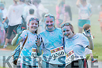 Gillian Courtney, Ciara Gleeson and Breda Kelliher Glenflesk singing the blues after being hit with a paint ambush at the Killarney Colour Run in Killarney Racecourse on Saturday