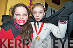 Clodagh O'Connor and Stella Hallissey pictured at the Halloween disco in Beaufort Community Centre on Friday night.   Copyright Kerry's Eye 2008