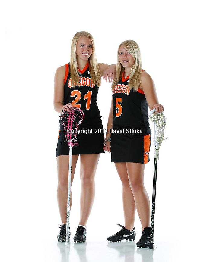 Photos of the 2012 Oregon High School Girls LaCrosse Team. (Photo by David Stluka)