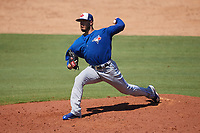 Toronto Blue Jays pitcher Shawn Morimando (65) delivers a pitch during a Florida Instructional League game against the Philadelphia Phillies on September 24, 2018 at Spectrum Field in Clearwater, Florida.  (Mike Janes/Four Seam Images)