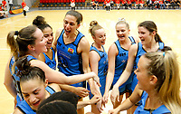 29th December 2019; Bendat Basketball Centre, Perth, Western Australia, Australia; Womens National Basketball League Australia, Perth Lynx versus Canberra Capitals; Canberra players celebrate their win over the Perth Lynx - Editorial Use