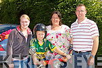 Nuala Woulfe, Jack, Noreen and Colm O'Neill Glin at the start of the Honda 50 rally in Faha on Sunday