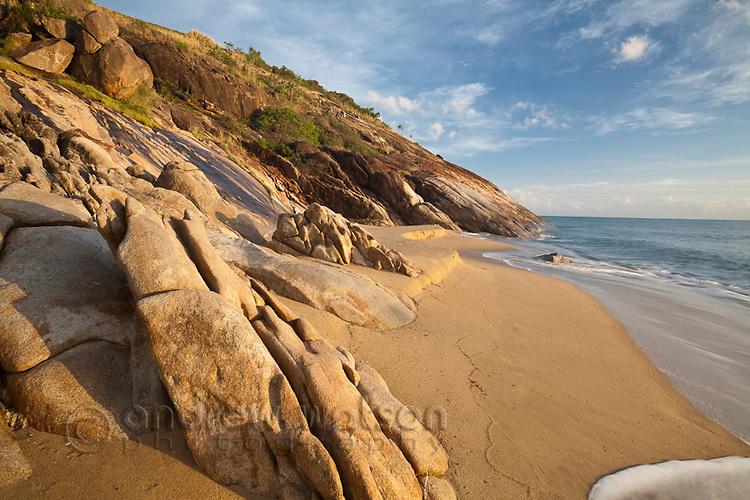 Rocky shoreline at Wangetti Beach, near Cairns, Queensland, Australia