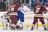 Cory Schneider, Mike Brennan, Jeremy Hall, Anthony Aiello - The University of Massachusetts-Lowell River Hawks defeated the Boston College Eagles 6-3 on Saturday, February 25, 2006, at the Paul E. Tsongas Arena in Lowell, MA.