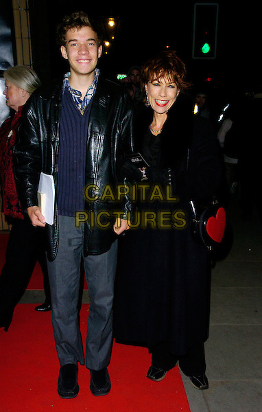"KATHY LETT & SON.The ""Venus"" UK premiere, Chelsea Cinema,.London, England, 22nd January 2007..full length black coat mother daughter.CAP/CAN.©Can Nguyen/Capital Pictures"