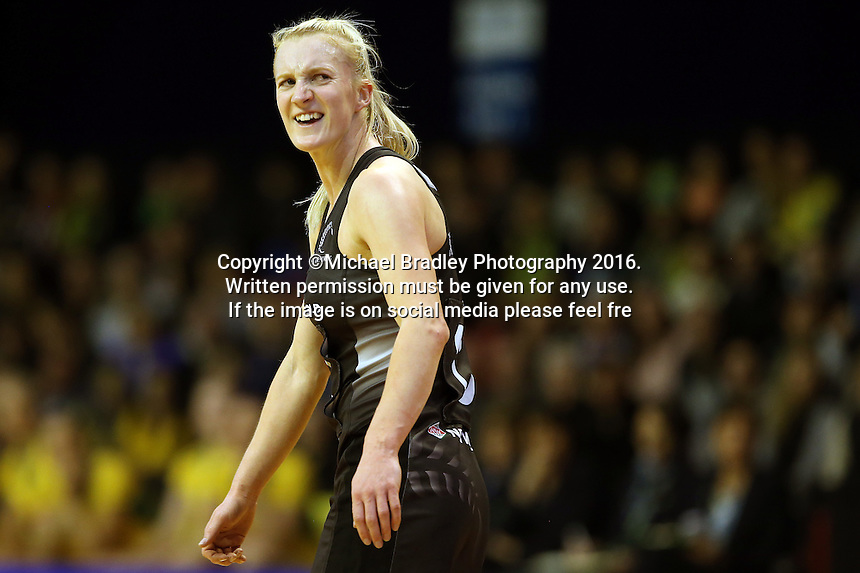 12.10.2016 Silver Ferns Shannon Francois in action during the Silver Ferns v Australia netball test match played at the Silver Dome in Launceston in Australia.. Mandatory Photo Credit ©Michael Bradley.