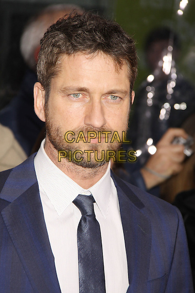 GERARD BUTLER .'The Bounty Hunter' New York Premiere held at the Ziegfeld Theatre, New York , NY, USA, 16th March 2010..arrivals portrait headshot  blue tie beard facial hair white shirt .CAP/ADM/AC.©Alex Cole/AdMedia/Capital Pictures.