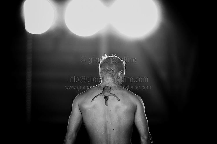 Jesper Tolvers (SWE)<br /> Diving European Championships Eindhoven 2012<br /> Men's 10m platform - preliminary<br /> Eindhoven (Netherlands), 20/05/2012<br /> Diving Tuffi  <br /> Foto Giorgio Perottino