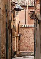 Narrow alley street, Segovia, Spain