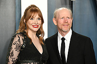 09 February 2020 - Los Angeles, California - Bryce Dallas Howard, Ron Howard<br /> . 2020 Vanity Fair Oscar Party following the 92nd Academy Awards held at the Wallis Annenberg Center for the Performing Arts. Photo Credit: Birdie Thompson/AdMedia
