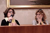 Roma, 3 Aprile 2017<br /> Paola Regeni e Alessandra Ballerini.<br /> Conferenza stampa al Senato della famiglia di Giulio Regeni, il giovane ricercatore scomparso e trovato morto con evidenti segni di torture in Egitto a febbraio del 2016