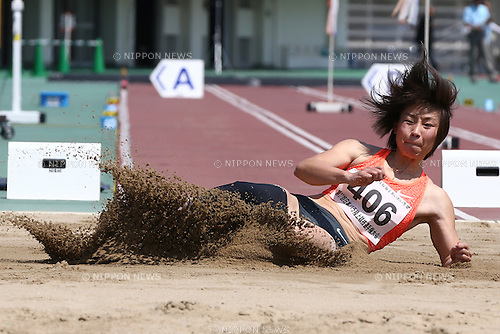 Maya Nakanishi,<br /> MAY 1, 2016 - Athletics :<br /> Japan Para Athletics Championships<br /> Women's Long Jump T44 Final<br /> at Coca Cola West Sports Park, Tottori, Japan.<br /> (Photo by Shingo Ito/AFLO SPORT)