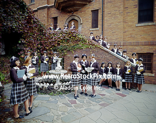 St. John Villa Academy. Teenager girls in school uniforms. 1959 - 165 New York