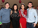 Lynn McKenna celebrating her 21st birthday in the Thatch with brothers Paul and Alan and sister Karen. Photo:Colin Bell/pressphotos.ie