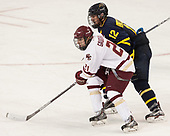 Matthew Gaudreau (BC - 21), Ludvig Larsson (Merrimack - 12) - The visiting Merrimack College Warriors defeated the Boston College Eagles 6 - 3 (EN) on Friday, February 10, 2017, at Kelley Rink in Conte Forum in Chestnut Hill, Massachusetts.