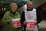 Eithne and Christopher Doggett selling lollipops for Lollipop Day funding oesophageal cancer research in Ireland...(Photo credit should read Jenny Matthews/NEWSFILE)...
