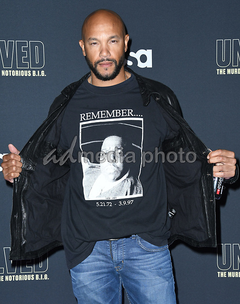 """22 February 2018 - Hollywood, California - Stephen Bishop. USA Network's """"Unsolved: The Murders of Tupac & The Notorious B.I.G."""" held at Avalon Hollywood. Photo Credit: Birdie Thompson/AdMedia"""
