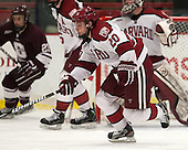 Ryan McGregor (Harvard - 20) - The Harvard University Crimson defeated the Colgate University Raiders 4-1 (EN) on Friday, February 15, 2013, at the Bright Hockey Center in Cambridge, Massachusetts.