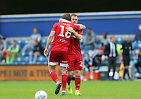 Harry Arter of Fulham and Harrison Reed of Fulham celebrates Fulhams first goal during Queens Park Rangers vs Fulham, Sky Bet EFL Championship Football at the Kiyan Prince Foundation Stadium on 30th June 2020