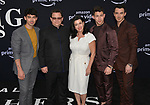 Joe Jonas, Paul Kevin Jonas Sr., Denise Miller-Jonas, Nick Jonas, and Kevin Jonas 118 arrives at the Premiere Of Amazon Prime Video's Chasing Happiness at Regency Bruin Theatre on June 03, 2019 in Los Angeles, California.