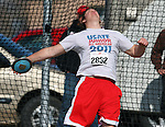 SIOUX FALLS, SD - MAY 2:  Cody Snyder throwing unattached throws the discus Friday afternoon at the Howard Wood Dakota Relays. (Photo by Dave Eggen/Inertia)