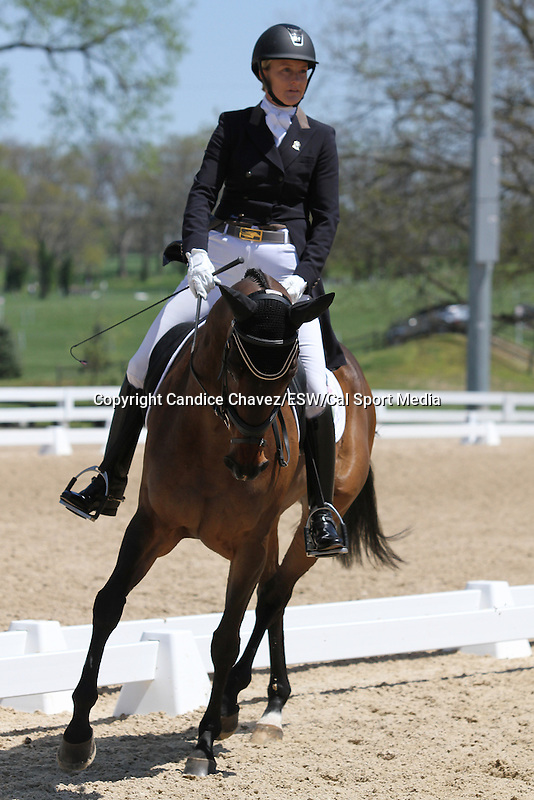 April 23, 2015:  #29 Fly Me Courageous and Sara Kozumplik Murphy competing on the first day of Dressage at the Rolex Three Day Event at the Kentucky Horse Park in Lexington, KY.  Candice Chavez/ESW/CSM