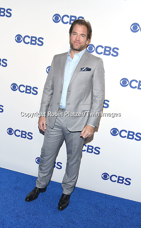Michael Weatherly of new CBS show &quot;Bull&quot;attends the CBS Upfront 2016-2017 on May 18, 2016 at the Oak Room at the Plaza Hotel in New Yorik, New York, USA.<br /> <br /> photo by Robin Platzer/Twin Images<br />  <br /> phone number 212-935-0770