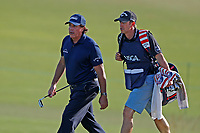 Phil Mickelson (USA) walks the 18th hole after missing the cut during the second round of the 118th U.S. Open Championship at Shinnecock Hills Golf Club in Southampton, NY, USA. 15th June 2018.<br /> Picture: Golffile | Brian Spurlock<br /> <br /> <br /> All photo usage must carry mandatory copyright credit (&copy; Golffile | Brian Spurlock)