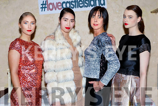Kristin McKenzie-Vass, Danny Xu, Liz Galway and Aoife Healy at the Castleisland Fashion show in the Ivy Leaf on Thursday night