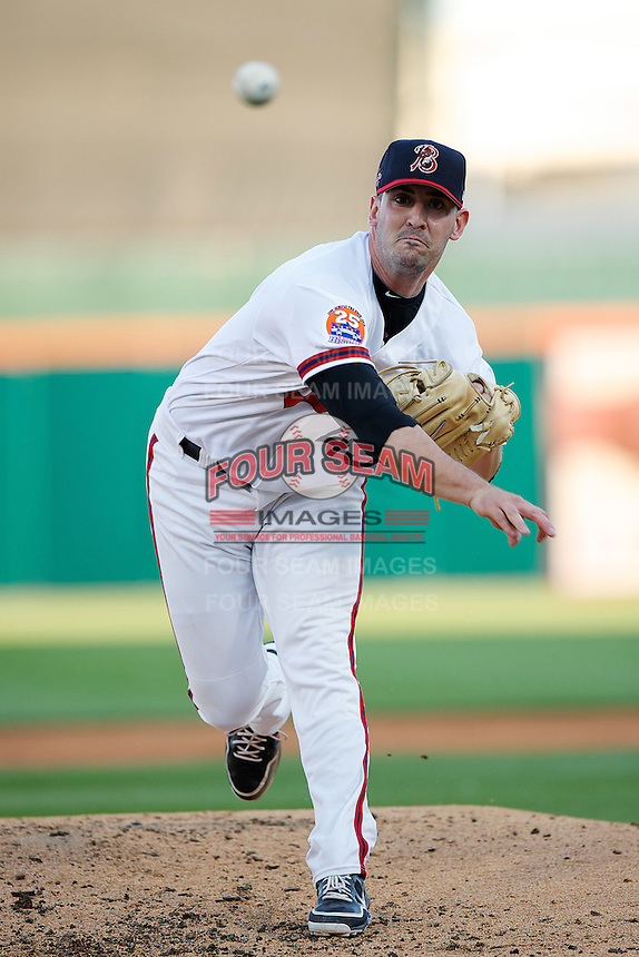 Buffalo Bisons pitcher Matt Harvey #43 during the Triple-A All-Star game featuring the Pacific Coast League and International League top players at Coca-Cola Field on July 11, 2012 in Buffalo, New York.  PCL defeated the IL 3-0.  (Mike Janes/Four Seam Images)