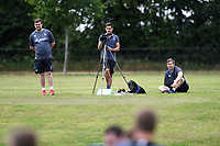 Bath Rugby analysts Dan Cooper, Matthew Watkins and Rowan O'Brien look on. Bath Rugby pre-season skills training on June 22, 2017 at Farleigh House in Bath, England. Photo by: Patrick Khachfe / Onside Images