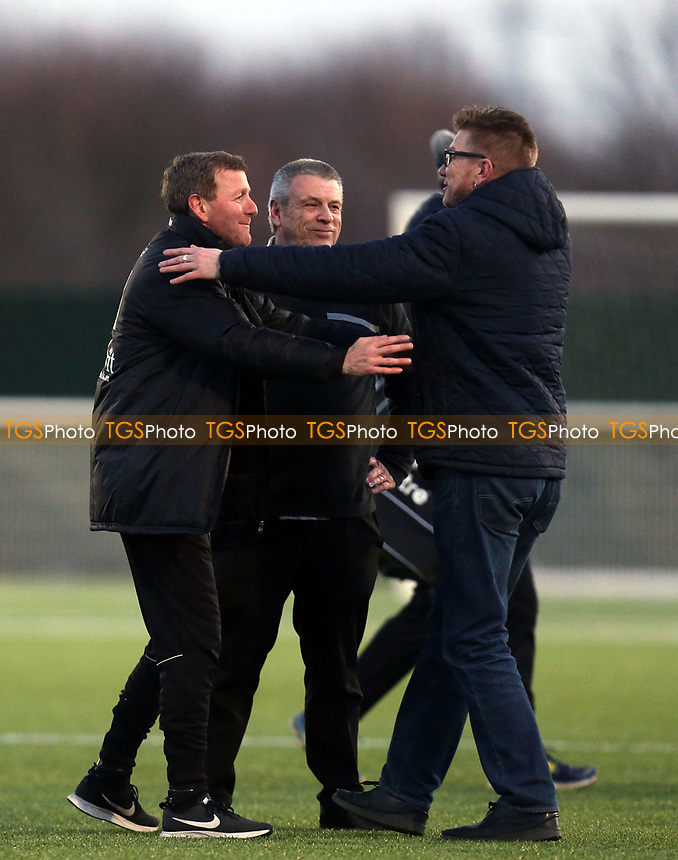 A very happy Aveley manager Keith Rowlands after Aveley vs Chelmsford City, Buildbase FA Trophy Football at Parkside on 8th February 2020