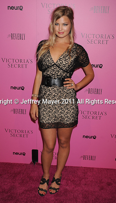 "LOS ANGELES, CA - MAY 12: Jennifer Akerman arrives to the Victoria's Secret 6th Annual ""What Is Sexy? List: Bombshell Summer Edition"" Pink Carpet Event at The Beverly on May 12, 2011 in Los Angeles, California."