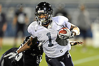 12 August 2011:  FIU's Willis Wright (1) carries the ball during a scrimmage held as part of the FIU 2011 Panther Preview at University Park Stadium in Miami, Florida.