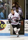Matt Lipinski (NU - 29) - The Northeastern University Huskies defeated the Bentley University Falcons 3-2 on Friday, October 16, 2009, at Matthews Arena in Boston, Massachusetts.