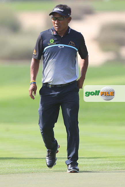 Thongchai Jaidee (THA) on the 2nd during Round 3 of the Omega Dubai Desert Classic, Emirates Golf Club, Dubai,  United Arab Emirates. 26/01/2019<br /> Picture: Golffile | Thos Caffrey<br /> <br /> <br /> All photo usage must carry mandatory copyright credit (© Golffile | Thos Caffrey)