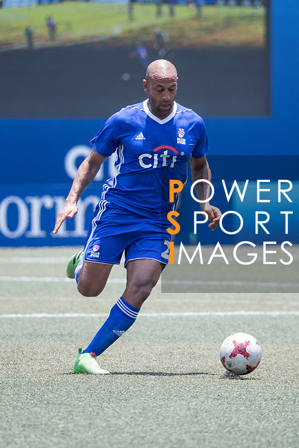 Citi All Stars (in blue) vs Yau Yee League Masters (in green) during their Masters Tournament Cup Semi-Final match, part of the HKFC Citi Soccer Sevens 2017 on 28 May 2017 at the Hong Kong Football Club, Hong Kong, China. Photo by Chris Wong / Power Sport Images