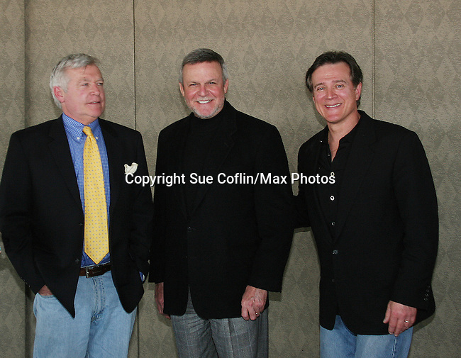 GL's Jerry verDorn - Frank Dicopoulos - Ron Raines attend the Shower with the Stars which benefits the Young Women's Breast Cancer Foundation and Cancer Caring Center of Pittsburgh on March 26, 2010 at the LeMont Restaurant, Pittsburgh, PA. (Photo by Sue Coflin/Max Photos)