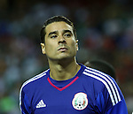 22 July 2015: Guillermo Ochoa (MEX). The Panama Men's National Team played the Mexico Men's National Team at the Georgia Dome in Atlanta, Georgia in a 2015 CONCACAF Gold Cup semifinal match. Mexico won the game 2-1 after extra time.